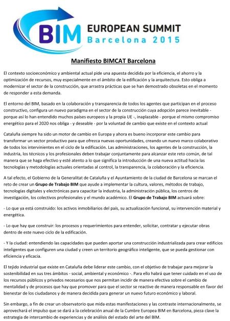 Declaració d'ObjectiusBIMCAT